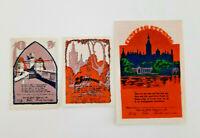 SCHWERIN REUTERGELD NOTGELD 10, 25, 50 PFENNIG 1922 NOTGELDSCHEINE (11993)
