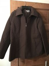 Preston & York Brown Quilted Car Coat Size L