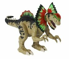 Electronic Dilophosaurus Dinosaur Toy Walk, Roar & Stomp W/ Flapping Neck Frills