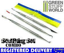 Sculpting Tools 3pcs + Green Stuff -COMBO- Wax Carvers - Green Stuff Carver tool