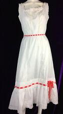 Antique Edwardian Combi Under Corset Dress Ribbon Bow Embroider Lace Slip