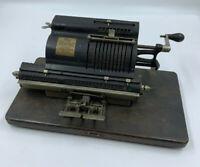 Antique Marchant Adding Machine Calculator Patent 1911, 1916 on wood Base