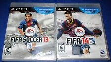 FIFA 14 + FIFA 13 Playstation 3 - PS3 - *Factory Sealed! *Free Shipping!