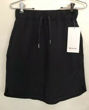 NWT Lululemon Size 6 On The Fly Skirt BLK Black $88