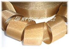 1.5 *OLD* GOLD SHIMMY SHIMMER GLITTER BLING PRINCESS CHEER GROSGRAIN RIBBON