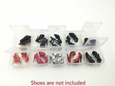 10Pacs1/6 Outfit Shoes Boots Heels Boxes for FR2 Fashion Royalty Integrity Toys
