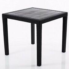 Gartentisch Rattan-Optik Beistelltisch Tisch Esstisch Balkontisch 79x79cm 2.Wahl