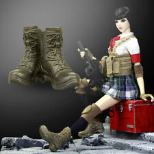 """1/6 Scale Female Shoes Combat Boots For 12"""" Figure Body Hot Toys Phicen Cy Girls"""