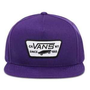 Vans Men's Full Patch Snapback Baseball Cap Purple Heliotrope - BRAND NEW