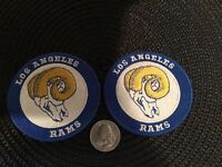 """(2) Los Angeles RAMS EMBROIDERED-IRON ON VINTAGE PATCHES PATCH LOT   3"""" x 3"""""""