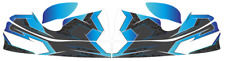 TRIBAL BLUE CUSTOM NOSECONE STICKER KIT - KARTING - GO KART - JakeDesigns