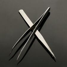 2 PC Professional Durable Precision Tweezers Sets Stainless Steel Non Magnetic