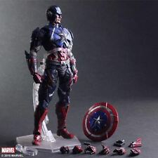"Marvel Universe Variant Playarts Kai 10.6"" Captain America Action Figure Model"