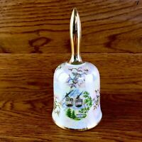 Bergbahn Bad Harzburg Cable Cars Beautiful Cream & Gold Decorated Bell Ornament