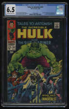 Tales to Astonish #101 CGC 6.5 OW/W Pgs Incredible Hulk Sub-Mariner Last Issue