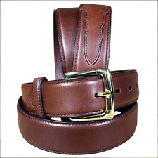 Brown New Mens Formal Durable Pure Leather Belt Removable Buckle U-1015