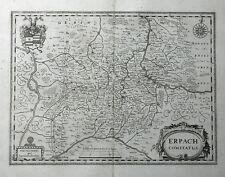 HESSEN ERBACH DARMSTADT ODENWALD JANSSONIUS KUPFERSTICHKARTE WAPPEN 1658