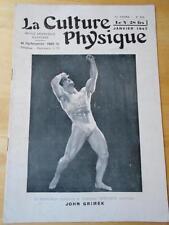 LA CULTURE PHYSIQUE bodybuilding muscle magazine/JOHN GRIMEK 1-47