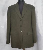 VINTAGE AUTHENTIC ARMANI COLLEZIONI GRAY MELANGE WOOL WOMEN'S BLAZER-SIZE:12/40