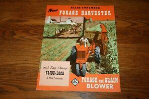 Allis Chalmers Forage Harvester Colorful Sales Brochure