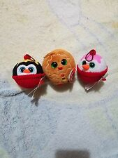 TY Baby Beanies ornament Ice Cream Sundae set Coco Flakes Gelato Christmas NWT