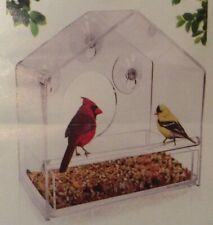 Nature Gear Window Bird Feeder Refillable Sliding Tray Weather Proof (used)