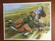 Vintage 1966 Green Bay Packers In Action Mobil Art Prints-- Tackle