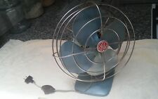 1950s Vintage GREEN,Blue ? General Electric GE Oscillating Table Desk Fan