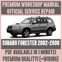 WORKSHOP MANUAL SERVICE & REPAIR GUIDE for SUBARU FORESTER 2002-2008 +WIRING