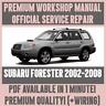 *WORKSHOP MANUAL SERVICE & REPAIR GUIDE for SUBARU FORESTER 2002-2008 +WIRING
