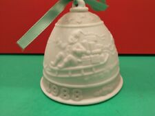 1988 Lladro Annual Christmas Porcelain Ornament Bell in Box