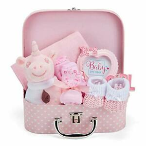 Baby Gift Set - Pink Hamper Box for Baby Girl with Baby Gifts