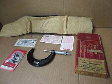 "STARRETT MICROMETER # 436RL CALIPER 3"" VINTAGE w/ BOX PAPERS WRENCH"