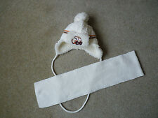 BABY BOYS WARM HAT AND SCARF, 3 months+
