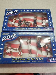 1996 Dream Team - USA Basketball - Starting Lineup - SEALED Complete Set 1 & 2