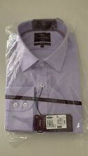 """Brand New M&S Collection Men's Lilac Luxury Tailored  Cotton Shirt Size 17.5"""""""