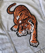 X-Large Tiger Big Cat Embroidered Iron Sew On Patch Applique Badge New