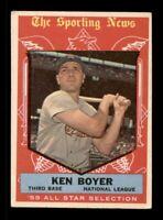 1959 Topps Set Break # 557 Ken Boyer All Star VG-EX *OBGcards*