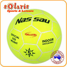 NASSAU DELUXE OFFICIAL SIZE 5 INDOOR SOCCER BALL 32-PANEL MOLDED FELT COVER