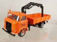 """s.e.s / modelltec IFA W50 Pritsche Ladekran """"Verkehrs-Betriebe"""" 1:87 H0 14105770"""
