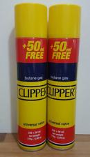 2 x 300ml Butane Gas Lighter Clipper  Universal  High Quality  Refill Fluid Fuel