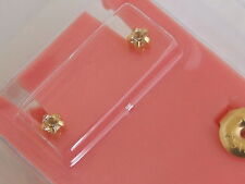 Studex Ear Piercing Tiffany Claw Set Birthstone April White Gold Plated Mini 2mm
