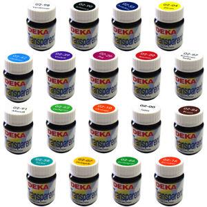 DEKA transparent  Glasfarbe Lösungsmittelbasis 25 ml - 15 Farben zur Auswahl -