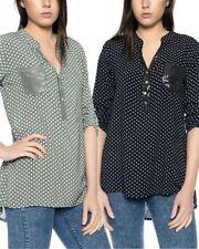 Maglie e camicie da donna camicetta con scollo a v, taglia 38