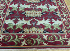 New Hand knotted wool arts and Crafts William Morris Oriental area rug 8'x10'