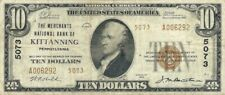 1929 $10 NATIONAL BANKNOTE ~ KITTANNING, PENNSYLVANIA ~ ARMSTRONG COUNTY NICE