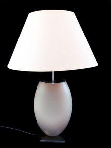 Sehr schöne Tischlampe, Edelstahl, Stein, Keramik?