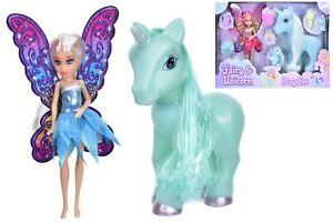 Large Unicorn & Fairy Play Set Girls Magical Christmas Gift Stocking Filler Doll