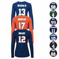 "NFL Majestic ""Fair Catch"" Player Jersey Long Sleeve T-Shirt Collection - Women's"