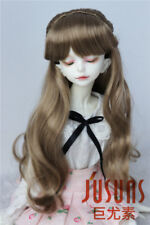 """MSD 1/4 BJD Doll Hair 7-8"""" Synthetic Mohair Long Wave Pony Doll Wigs 4 Colors"""